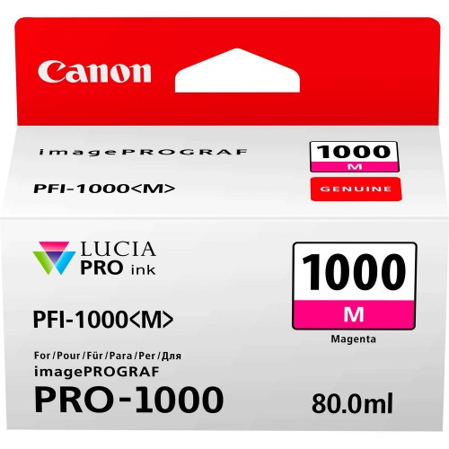 Canon PFI-1000M Magenta Ink Tank 80ml - Canon PRO-1000 Photo Printer 0548C001