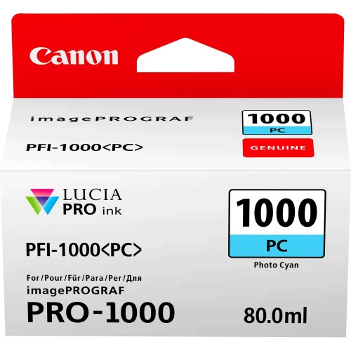Canon PFI-1000PC Photo Cyan Ink Tank 80ml - Canon PRO-1000 Photo Printer 0550C001