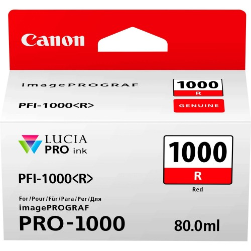 Canon PFI-1000R Red Ink Tank 80ml - Canon PRO-1000 Photo Printer 0554C001