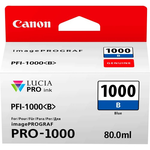 Canon PFI-1000B Blue Ink Tank 80ml - Canon PRO-1000 Photo Printer 05535C001