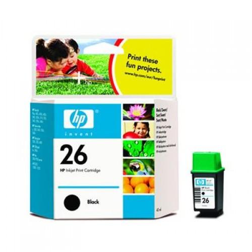 HP 26 51626AE Black Ink Cartridge 40ml