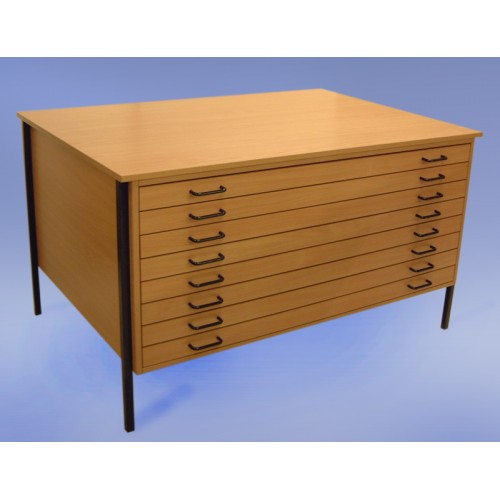 A0 8 Drawer Economy Wooden Planchest