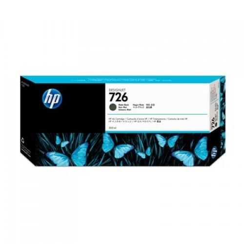HP 726 CH575A Matte Black Ink Cartridge 300ml for HP T1200, T1300, T2300eMFP & T795