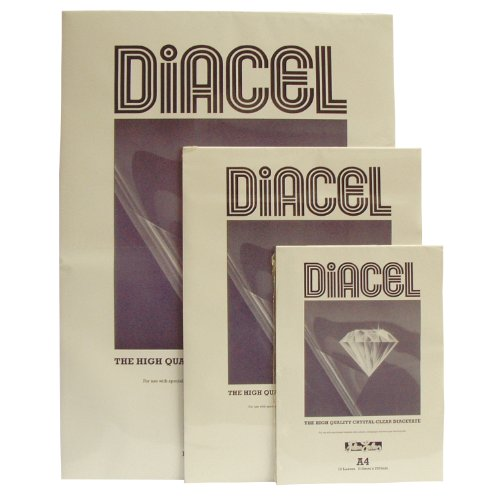 Diacel Clear Acetate 115 micron A1 Pack of 25 Sheets