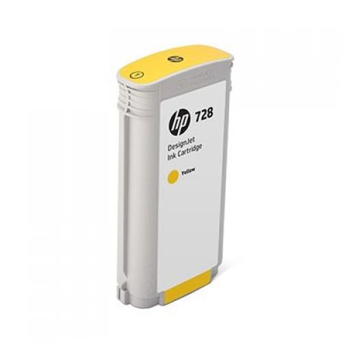 HP 728 Yellow 130ml Ink Cartridge for HP Designjet T730 Printer & T830 eMFP F9J65A