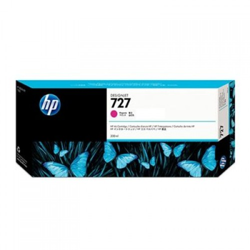HP F9J77A No.727 Ink Cartridge Magenta - 300ml