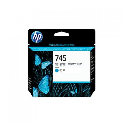 HP 744 F9J86A Photo Black & Cyan Printhead for HP Designjet Z2600 & Z5600