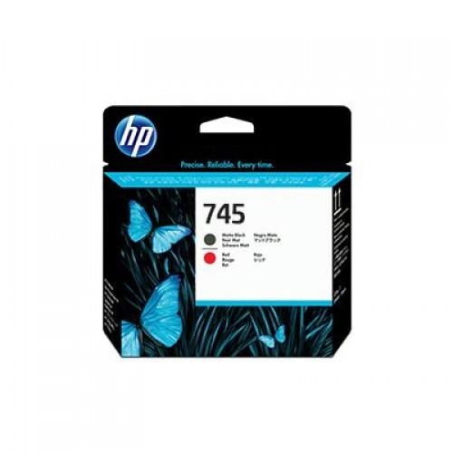 HP 744 F9J88A Matte Black & Red Printhead for HP Designjet Z2600 & Z5600