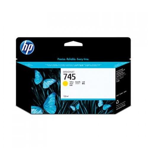 HP 745 F9J96A Yellow Ink Cartridge 130ml for HP Designjet Z2600 & Z5600