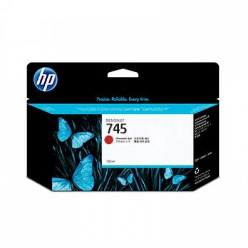 HP 745 F9K00A Chromatic Red Ink Cartridge 130ml for HP Designjet Z2600 & Z5600