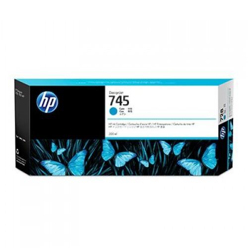 HP 745 F9K03A Cyan Ink Cartridge 300ml for HP Designjet Z2600 & Z5600