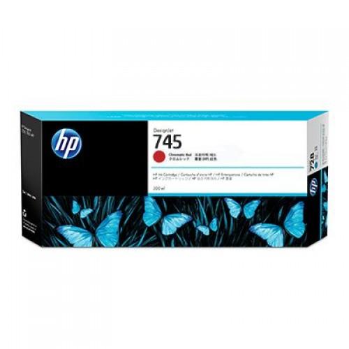 HP 745 F9K06A Chromatic Red Ink Cartridge 300ml for HP Designjet Z2600 & Z5600