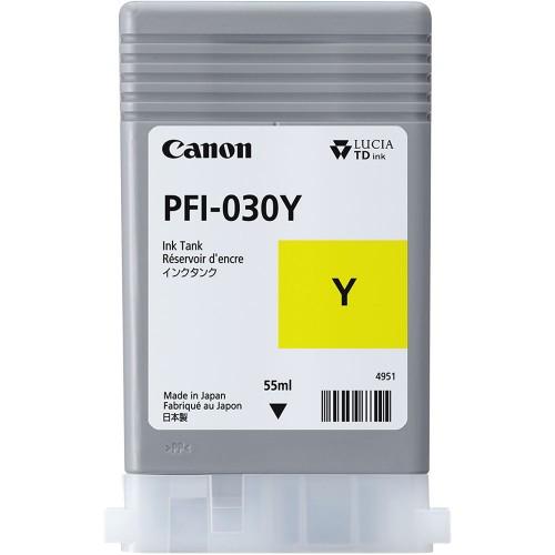 Canon PFI-030Y Yellow 55ml Ink Tank 3492C001AA for TA-20 & TA-30