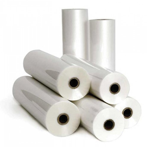 "Pressure Sensitive Dry Wipe Gloss Laminate 50 micron Film 1040mm x 100m Roll on 3"" Core"