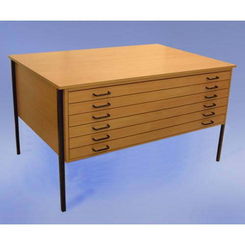 A0 6 Drawer Economy Wooden Planchest