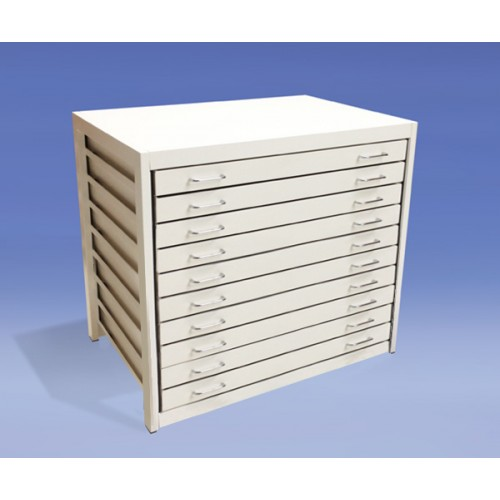 A1 10 Drawer Modern Metal Planchest