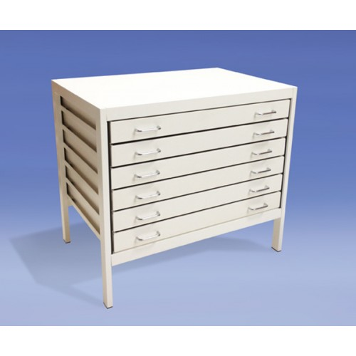 A1 6 Drawer Modern Metal Planchest