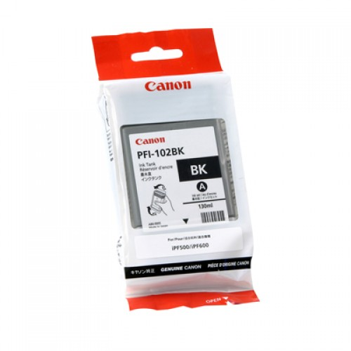 Canon Black Dye Ink Cartridge PFI-102BK