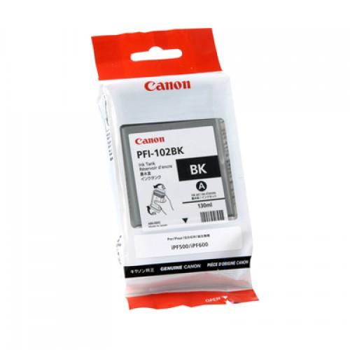 Canon Black Dye Ink Cartridge PFI-102BK