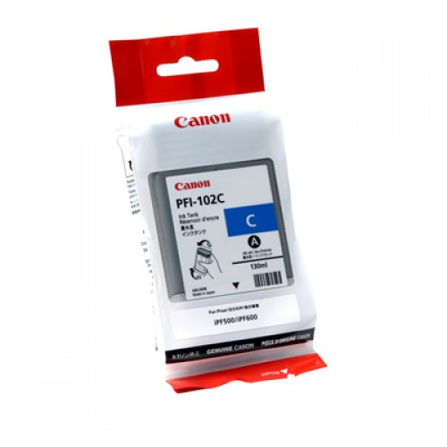 Canon Cyan Dye Ink Cartridge PFI-102C