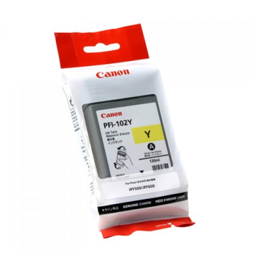 Canon Yellow Dye Ink Cartridge PFI-102Y