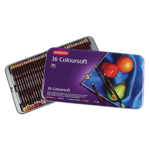 Derwent Coloursoft Pencils Tin of 36