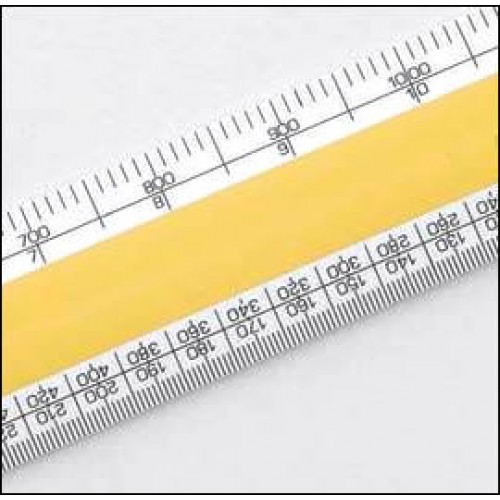 """Scale Rule for Architects 300mm 12"""" Verulam Oval Rule"""