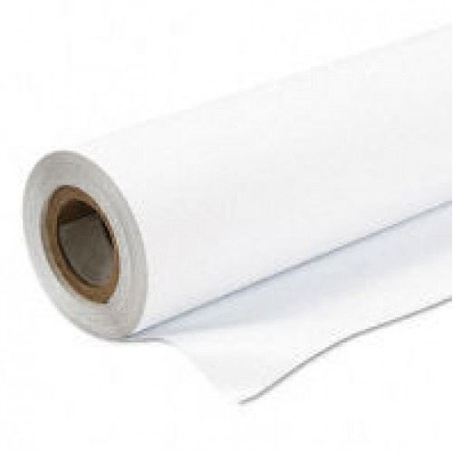 "Gloss White Monomeric 100 micron Vinyl Permanent Grey Adhesive 54"" 1370mm x 50m Roll"
