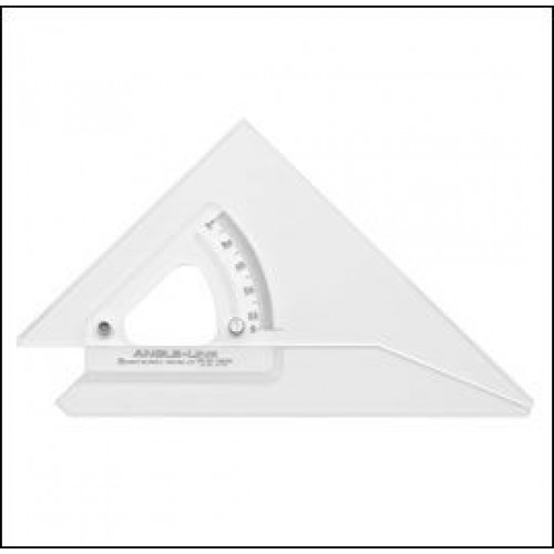 "Adjustable Set Square 12"" 300mm with Inking Edge"