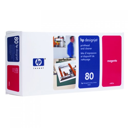 HP 80 C4822A Magenta Print Head + Cleaner