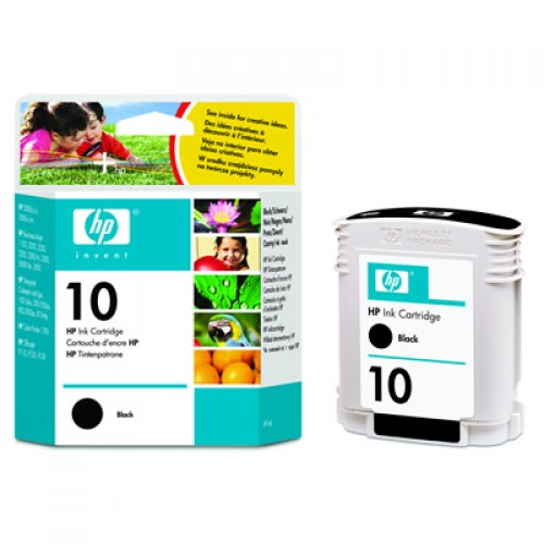 HP C4844A No. 10 Black Ink Cartridge 69ml