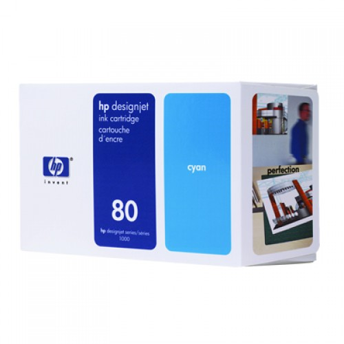 HP 80 C4846A  Cyan Ink Cartridge  350ml for HP Designjet 1050 & 1055
