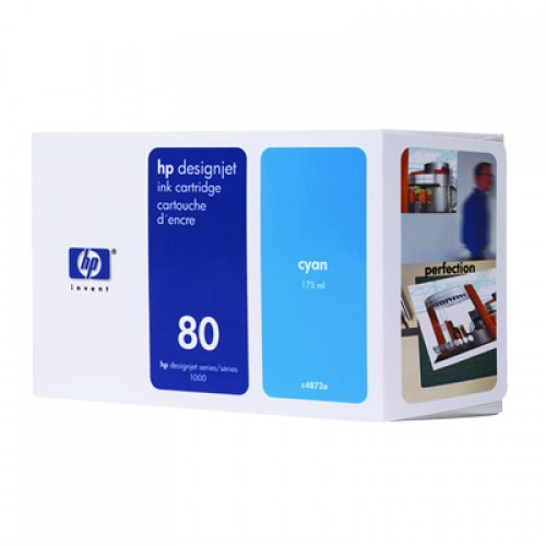 HP C4872A No 80 Cyan Ink Cartridge 175ml
