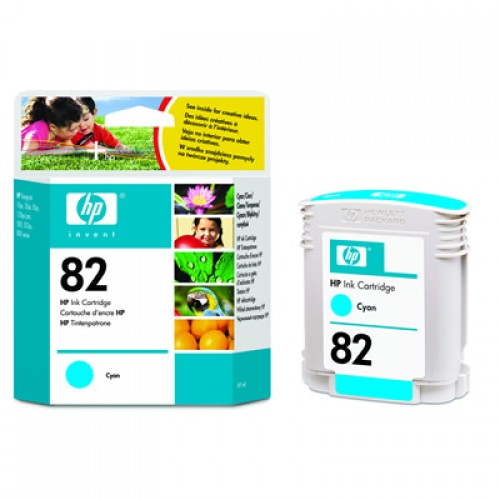 HP C4911A No.82 Cyan Ink Cartridge 69ml for HP Designjet 500, 510 & 800