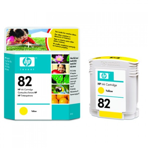 HP C4913A No.82 Yellow 69ml Ink Cartridge for HP Designjet 500 510 & 800