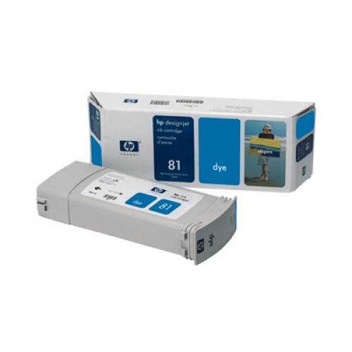 HP C4931A No. 81 Cyan Ink Cartridge 680ml for HP Designjet 5000 & 5500