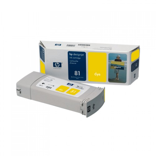 HP C4933A No. 81 Yellow Ink Cartridge 680ml for HP Designjet 5000 & 5500