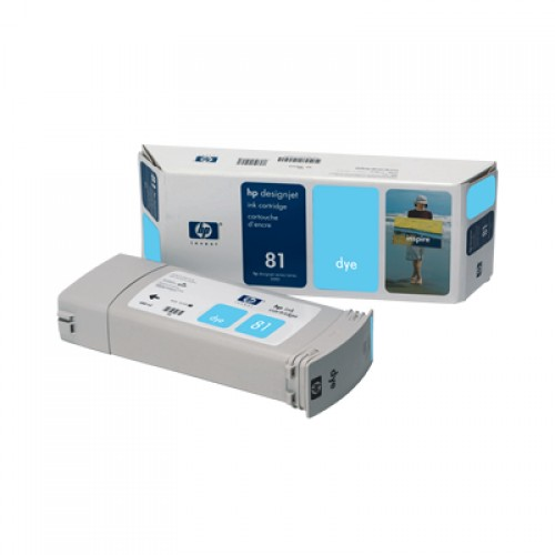 HP C4934A No. 81 Light Cyan Ink Cartridge 680ml for HP Designjet 5000 & 5500