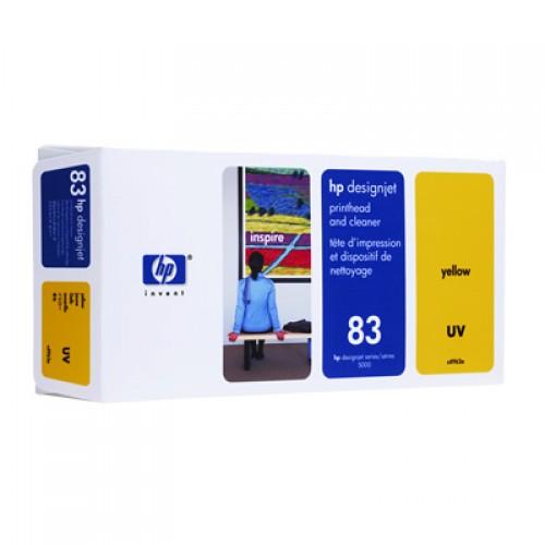 HP 83 C4963A Yellow Print Head + Cleaner