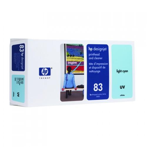 HP 83 C4964A Light Cyan Print Head + Cleaner