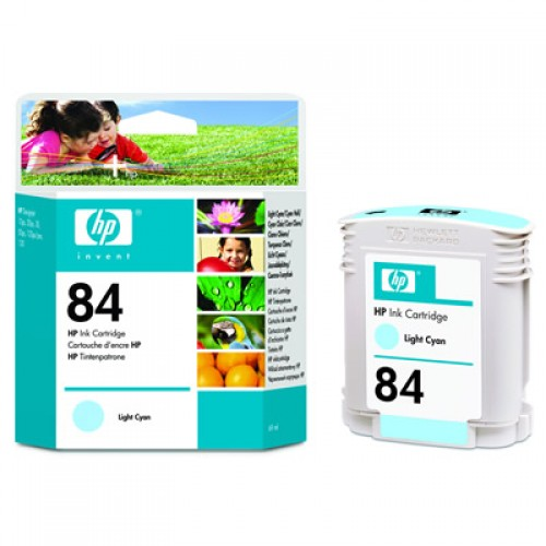 HP C5017A No.84 Light Cyan Ink Cartridge 69ml for HP Designjet 10ps, 120, 20ps & 50ps