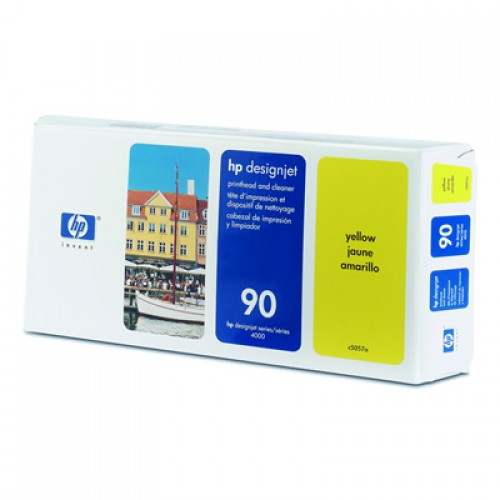 HP C5057A Yellow Print Head + Cleaner for HP Designjet 4000, 4020, 4500, 4520, 4500 MFP & 4520 MFP