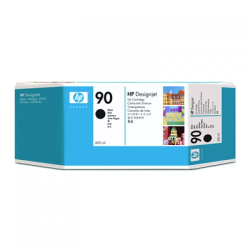 HP 90 C5058A Black Ink Cartridge 400ml for HP Designjet 4000, 4020, 4500 & 4520