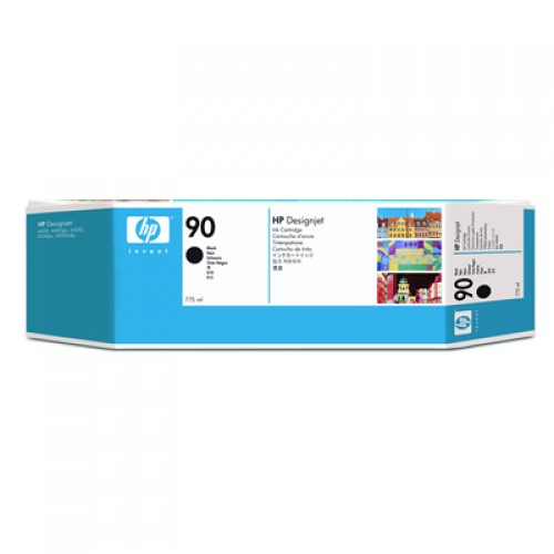 HP 90 C5059A Black Ink Cartridge 775ml for HP Designjet 4000, 4020, 4500 & 4520