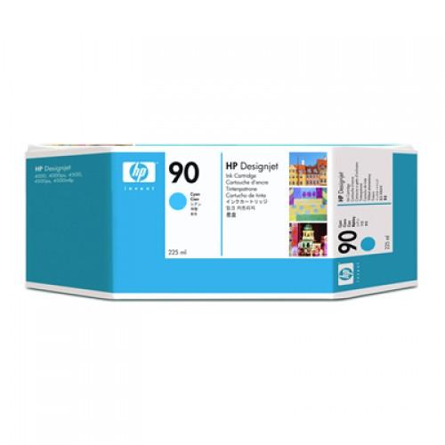 HP 90 C5060A Cyan Ink Cartridge 225ml for HP Designjet 4000, 4020, 4500 & 4520