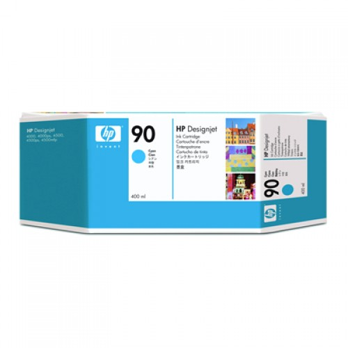 HP 90 C5061A Cyan Ink Cartridge 400ml for HP Designjet 4000, 4020, 4500 & 4520
