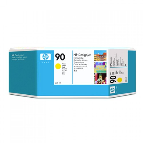 HP 90 C5064A Yellow Ink Cartridge 225ml for HP Designjet 4000, 4020, 4500 & 4520