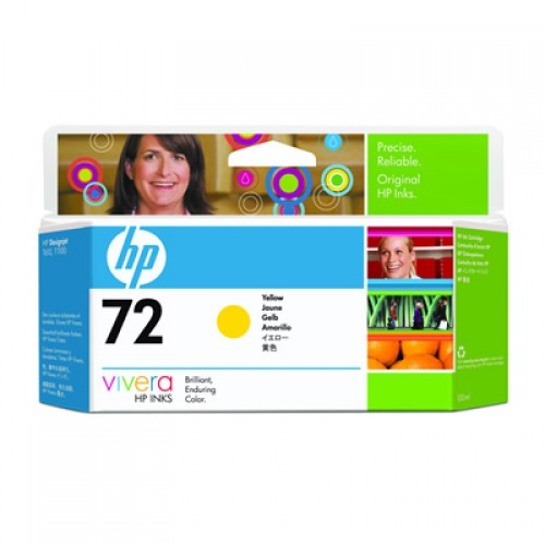 HP 72 C9373A Yellow Ink Cartridge 130ml