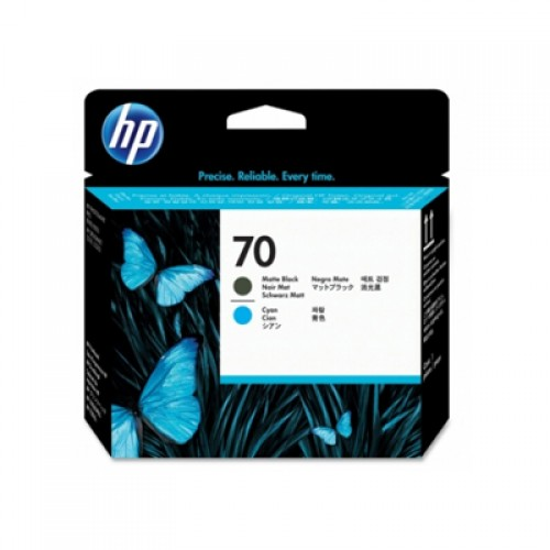 HP 70 C9404A Dual Col. Printhead Matte Black & Cyan for HP Designjet Z2100, Z3100, Z5200 & Z5400