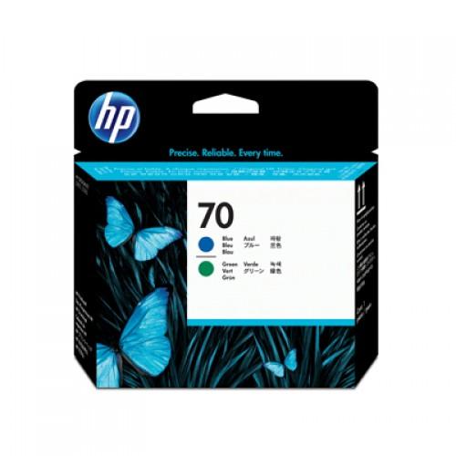 HP 70 C9408A Dual Col. Printhead Blue & Green for HP Designjet Z2100, Z3100 & Z3200